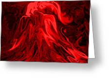 Red Volcanic Dreams Greeting Card