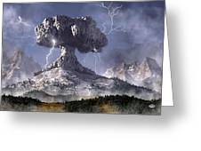 Volcano Greeting Card