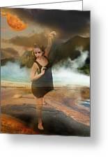 Volcano Goddess Greeting Card