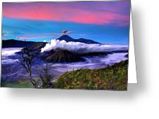 Volcano In The Clouds Greeting Card