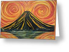 Volcano Madness Greeting Card
