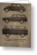 Volkswagen Advertisement Greeting Card