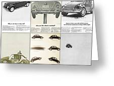 Volkswagen Beetle Collage Greeting Card