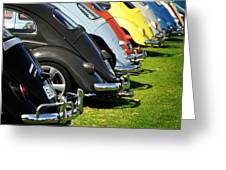 Volkswagen Line Up Greeting Card