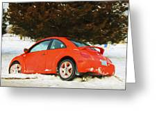 Volkswagen Snow Day Greeting Card
