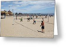 Volleyball At The Santa Cruz Beach Boardwalk California 5d23837 Greeting Card