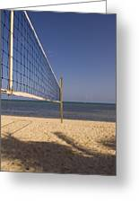 Vollyball Net On The Beach Greeting Card