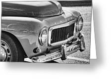 Volvo Black And White Greeting Card