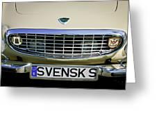 Volvo Grille Emblem -0198c Greeting Card