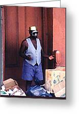 Voodoo Busker In New Orleans Greeting Card