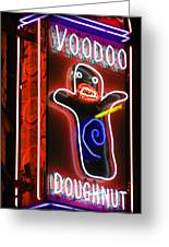 Voodoo Doughnuts Greeting Card by Gail Lawnicki
