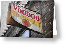 Voodoo Doughnuts Greeting Card
