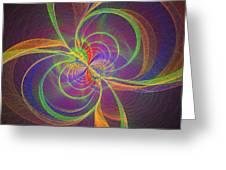 Vortex Abstract Digital Fractal Flame Art Greeting Card