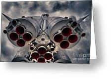 Vostok Rocket Engine Greeting Card