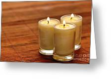 Votive Candle Burning Greeting Card