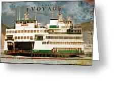 Voyage To Puget Sound Greeting Card
