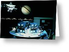 Voyager 1 Mission Control During Saturn Encounter Greeting Card