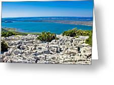 Vransko Lake And Kornati Islands Greeting Card