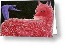 Vulpecula And Anser Greeting Card