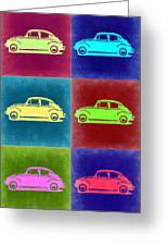 Vw Beetle Pop Art 2 Greeting Card by Naxart Studio