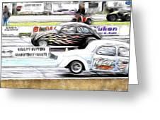 Vw Beetle Race Greeting Card