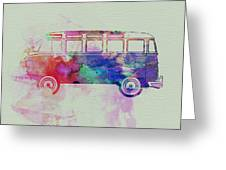 Vw Bus Watercolor Greeting Card