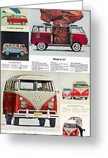 Vw Camper Collage Greeting Card