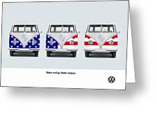 Vw Go Faster Stripes Greeting Card