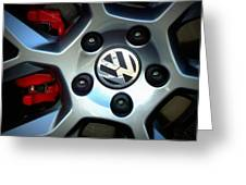 Vw Gti Wheel Greeting Card