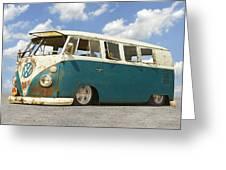 Vw Lowrider Bus Greeting Card