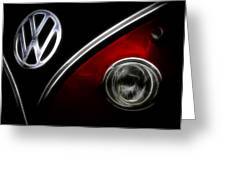 Vw Micro Bus Logo Greeting Card