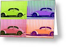 Vw Pop Spring Greeting Card by Laura Fasulo
