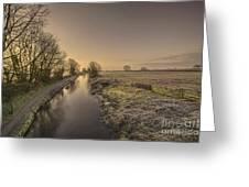 Battens Bridge Frost  Greeting Card