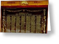 W W I Honor Roll Greeting Card