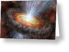 W33a Protostar Accretion Disc, Artwork Greeting Card