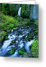 Wachlella Falls Columbia River Gorge National Scenic Area Oregon Greeting Card