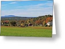 Wachusett Mountain From Harvard Ma Greeting Card