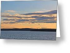 Wachusett Reservoir Sunset Greeting Card