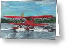 Waco Cabin Biplane Circa 1930 Greeting Card
