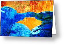 Wadi Rum Natural Arch 2 Greeting Card