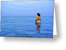 Wading In Greeting Card