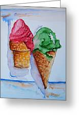 Wafer Or Waffle Cone Greeting Card