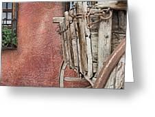 Wagon At The Hacienda Greeting Card by Robert Bascelli