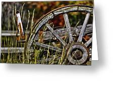 Wagon Down Greeting Card