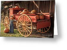 Wagon Full Of Pumpkins Greeting Card