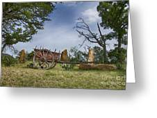 Wagon-hill Country Texas V2 Greeting Card
