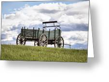 Wagon On A Hill Greeting Card