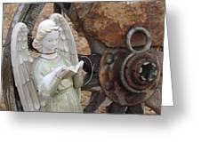 Wagon Wheel Angel Greeting Card