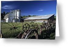 Wagon Wheel Barn Greeting Card