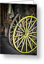 Wagon Wheels Greeting Card by Colleen Kammerer